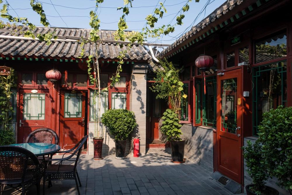 Innenhof im Qianmen Courtyard Hotel in Beijing / China