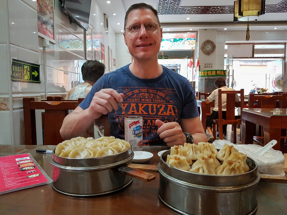 Baozi zum Frühstück in Beijing / China