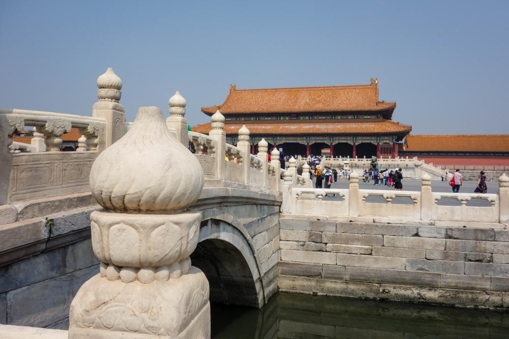 Goldwasserfluss in der Verbotenen Stadt in Beijing / China