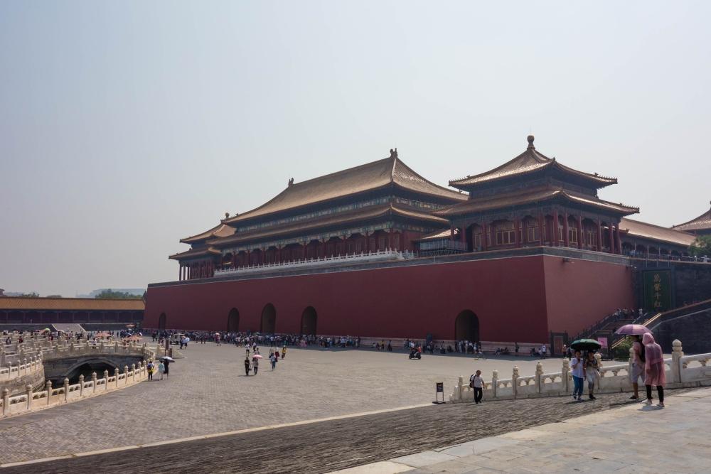 Mittagstor in der Verbotenen Stadt in Beijing / China