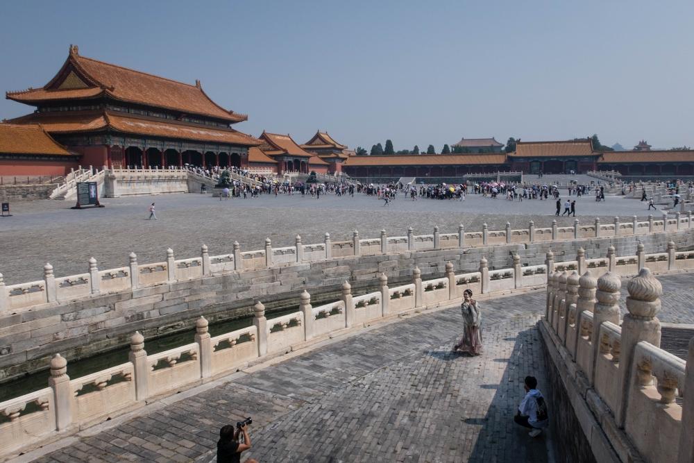 Goldwasserfluss mit 5 Marmorbrücken / Verbotene Stadt Beijing / China