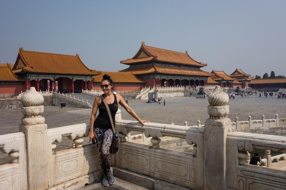 Blick auf den Äußeren Hof der Verbotenen Stadt in Beijing / China