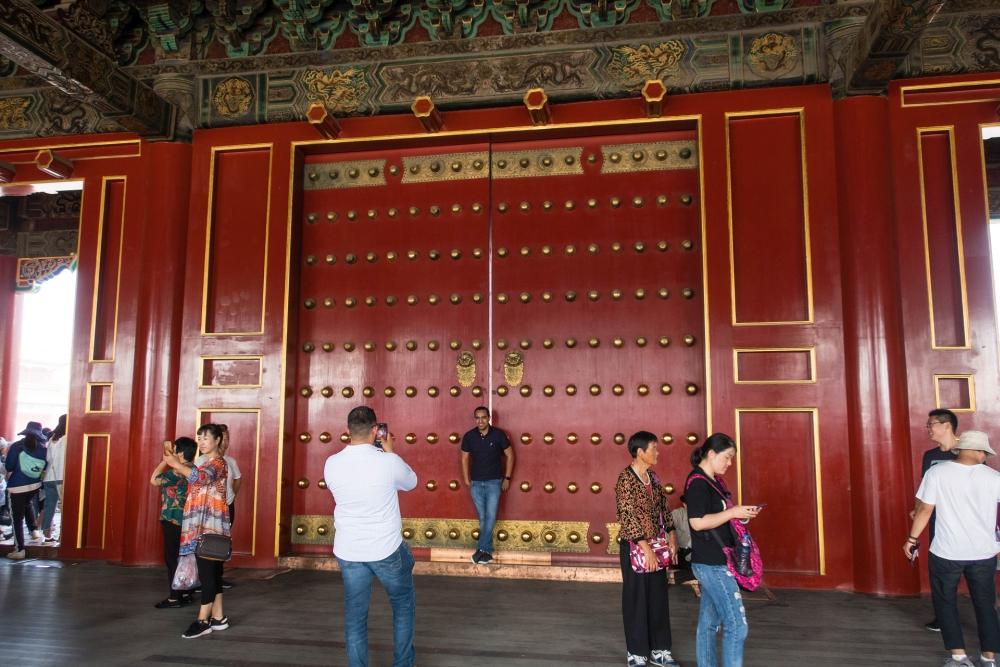 Tor der Höchsten Harmonie in der Verbotenen Stadt in Beijing / China