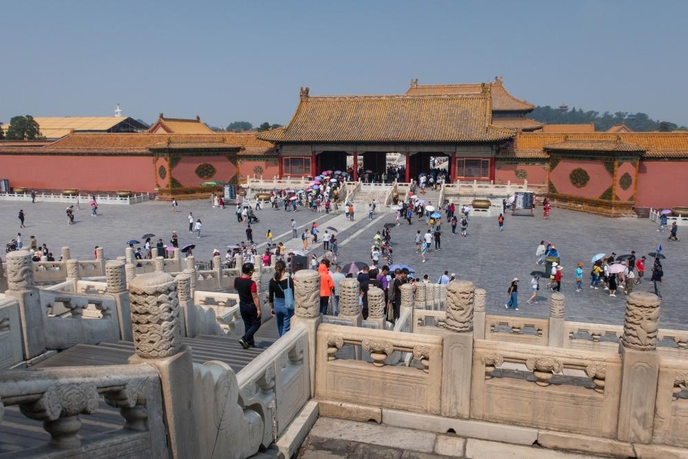 Tor der Himmlischen Reinheit in der Verbotenen Stadt in Beijing / China