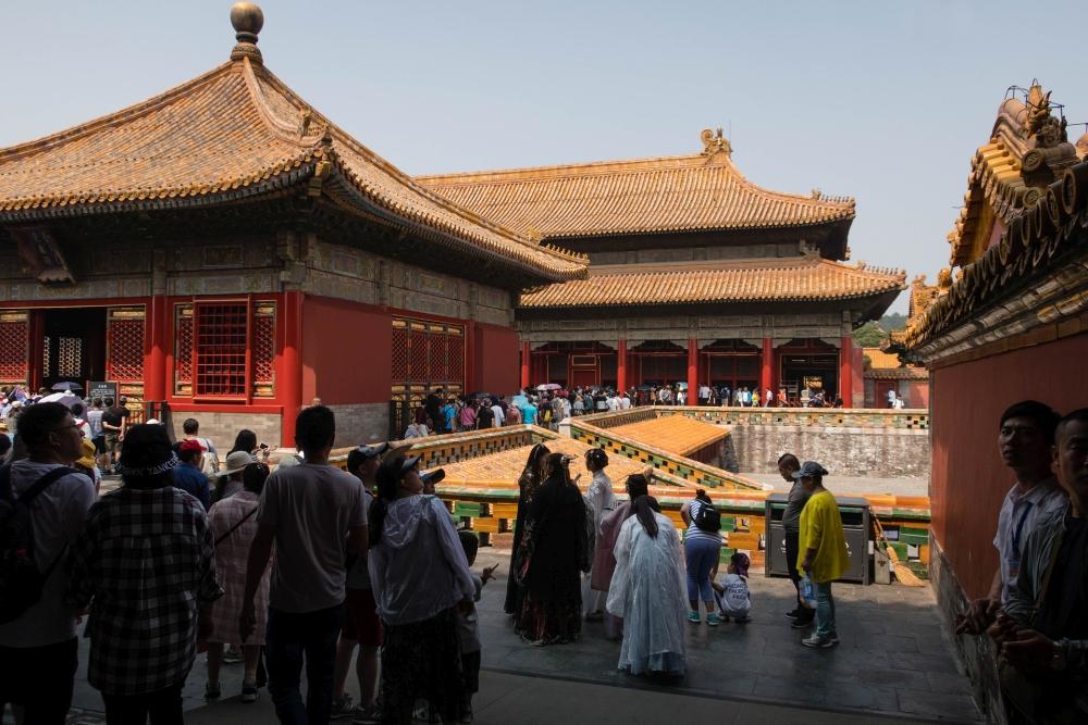 Halle der Einheit in der Verbotenen Stadt in Beijing / China