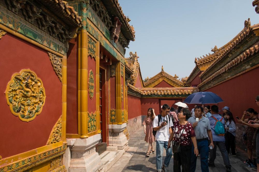 Innerer Hof der Verbotenen Stadt in Beijing / China