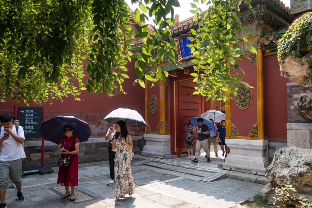 Kaiserlicher Blumengarten in der Verbotenen Stadt in Beijing / China