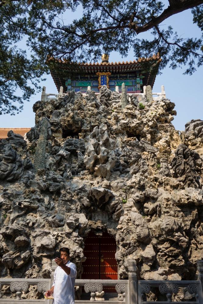Steine in der Verbotenen Stadt in Beijing / China