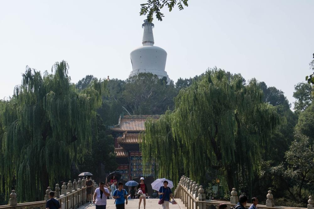 Weiße Dagoba / Bei Hai Park in Beijing / China