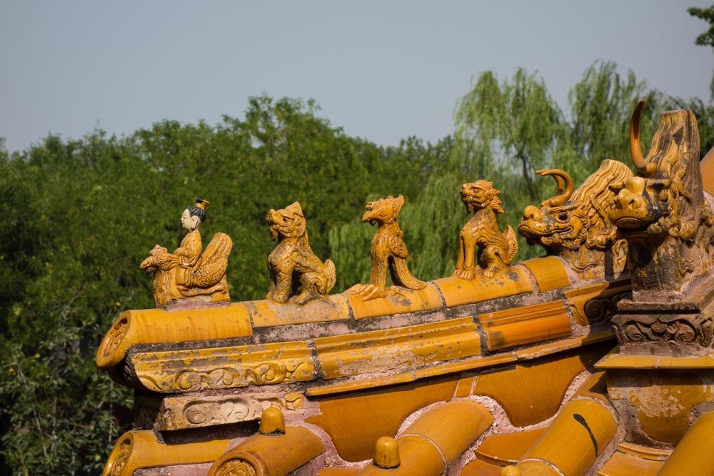 Dachsimse im Bei Hai Park in Beijing / China