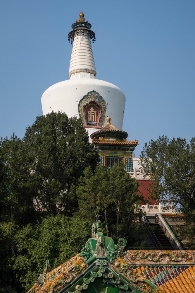 Weiße Dagoba im Bei Hai Park in Beijing / China
