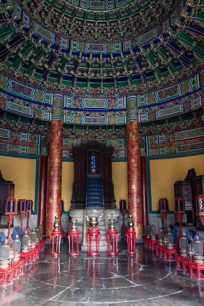 Inneres des Kaiserlichen Himmelsgewölbes im Tian Tan in Beijing / China