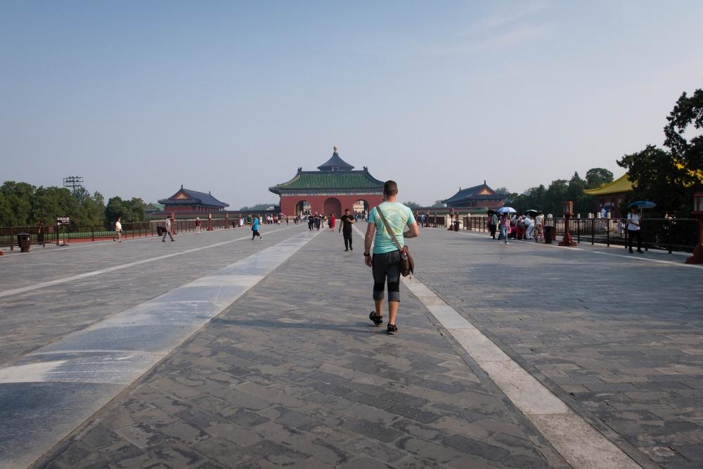 Danbi-Brücke zur Halle des Erntegebets im Tian Tan in Beijing / China