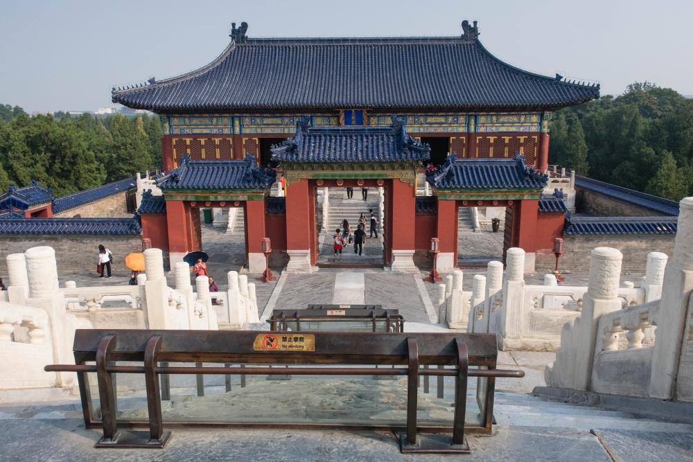 Rückseite der Halle des Erntegebets im Tian Tan in Beijing / China
