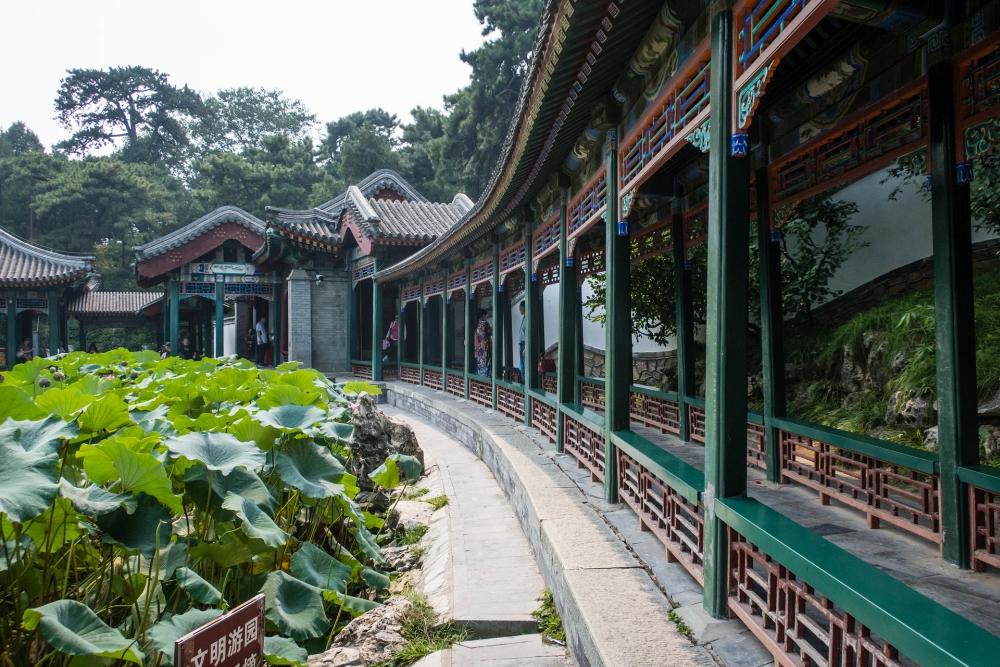 Garten des Harmonischen Vergnügens im Sommerpalast in Beijing / China