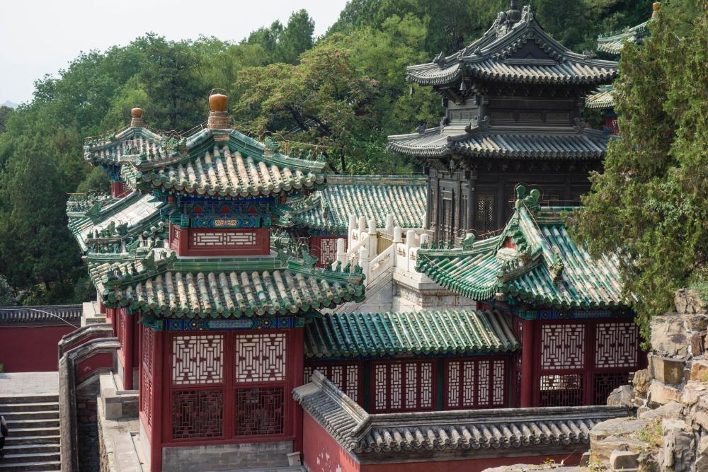 Bronze-Pavillon im Sommerpalast Beijing / China