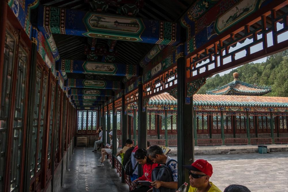 Pavillon zum Buddhistischen Wohlgeruch im Sommerpalast in Beijing / China