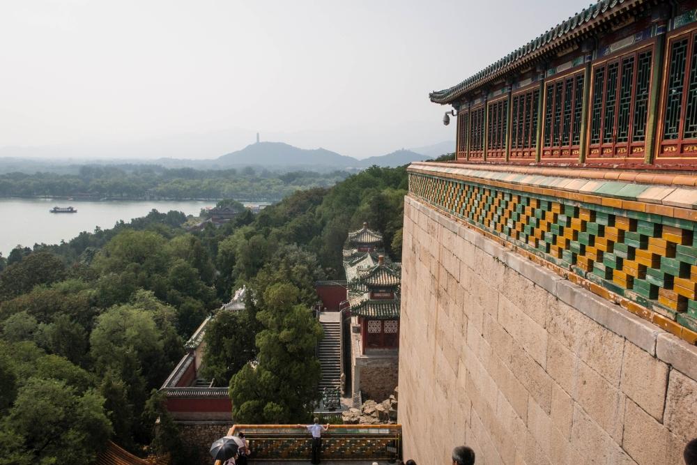 Ausblick vom Berg der Langlebigkeit im Sommerpalast in Beijing / China