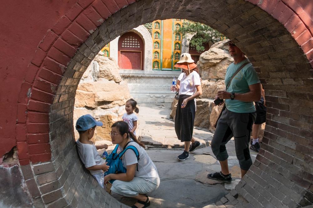Tempel des Meeres der Weisheit im Sommerpalast in Beijing / China
