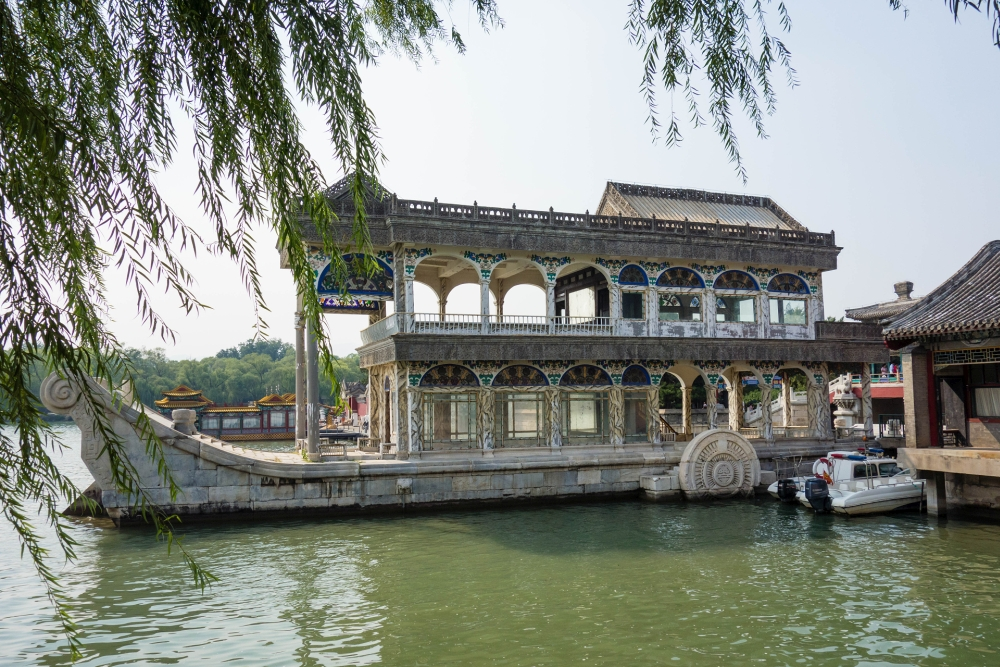 Cixis Marmorboot am Sommerpalast in Beijing / China