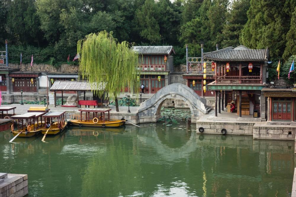 Suzhou-Straße im Sommerpalast in Beijing / China