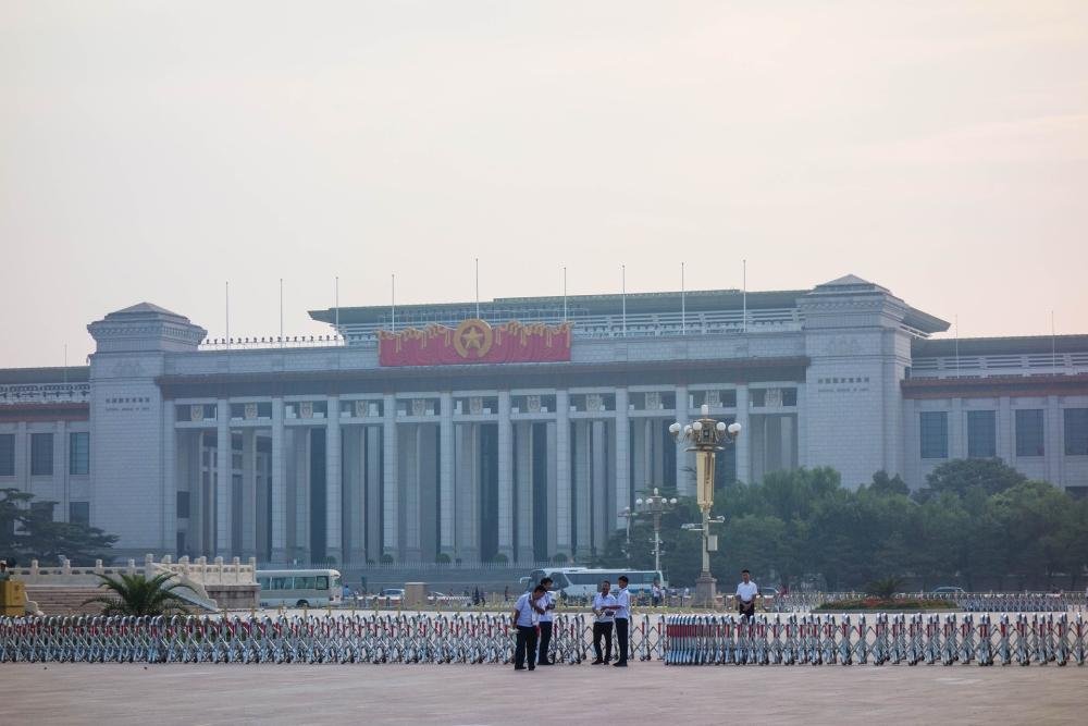 Chinesiches Nationalmuseum auf dem Tian'an Men Platz in Beijing / China