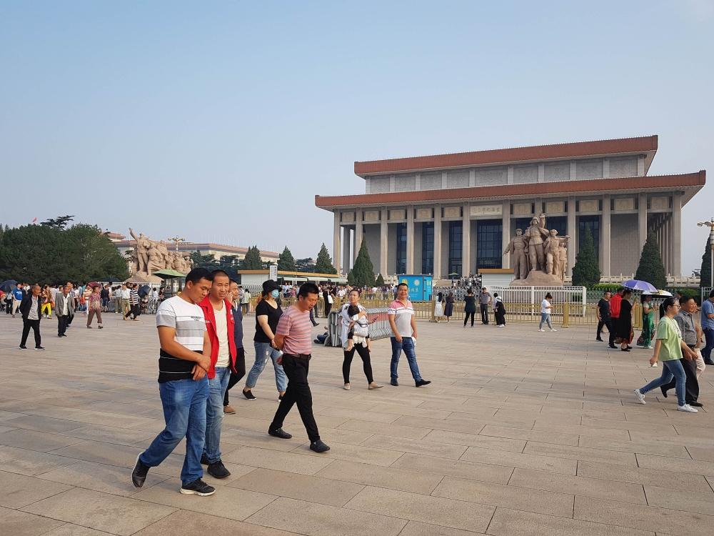 Mao Mausoleum auf dem Tian'an Men Platz in Beijing / China