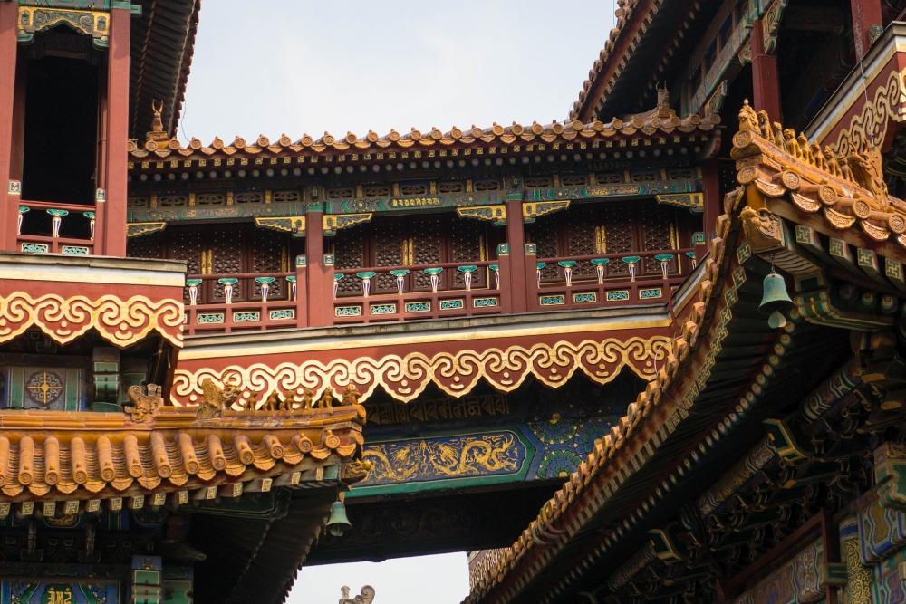 Wanfu Pavillon im Lamatempel in Beijing / China