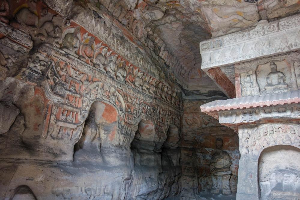 Yungang-Grotten in Datong / Chin