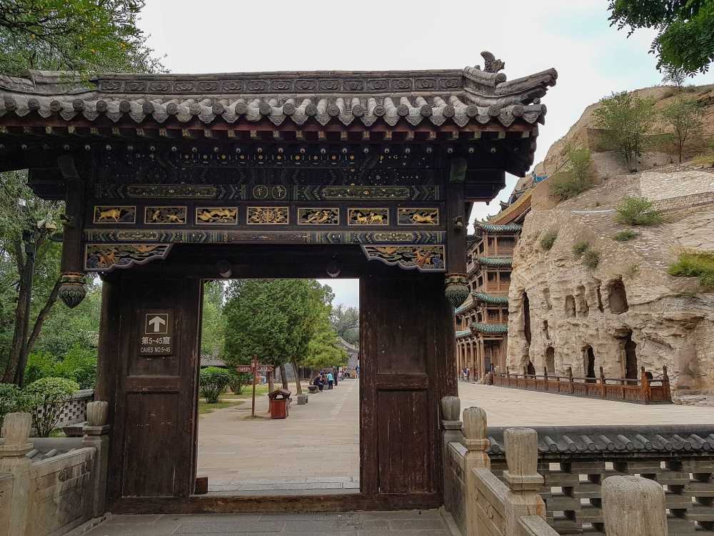 Yungang-Grotten in Datong / China