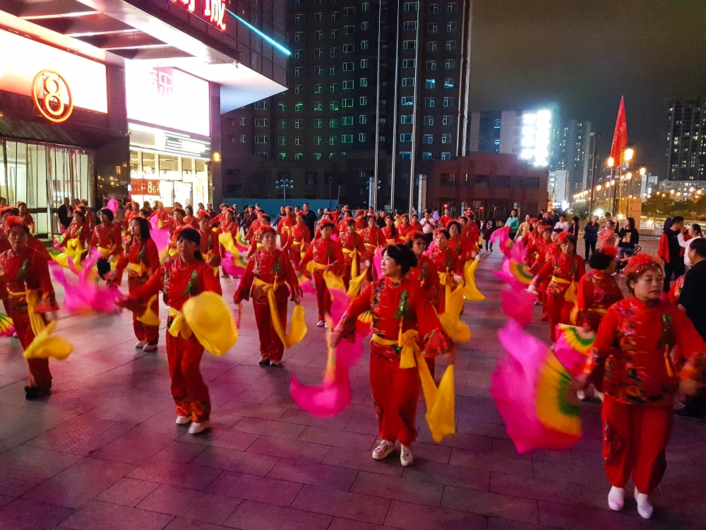 Tanzperformance in Datong / China