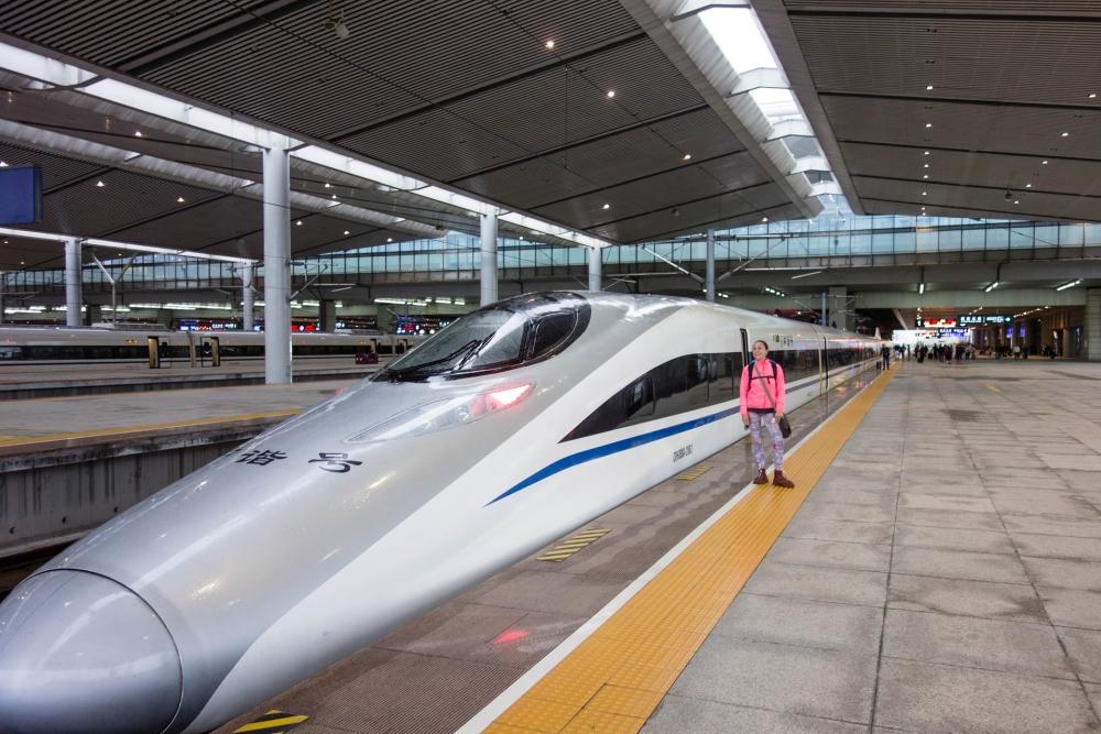Hochgeschwindigkeitszug in Xi'an / Shaanxi / China