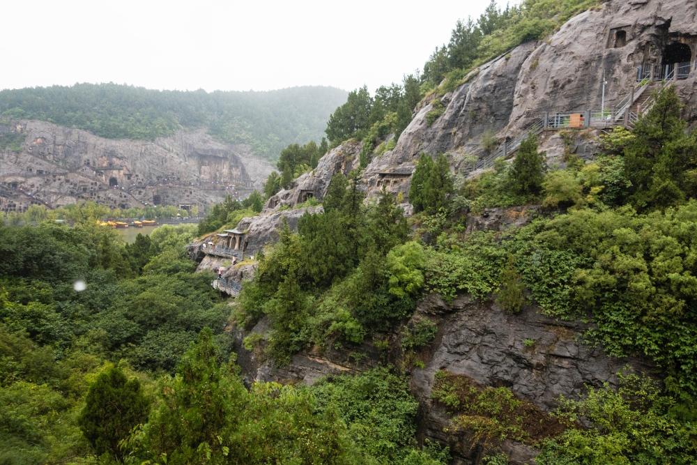 Longmen-Grotten bei Luoyang / Henan / China