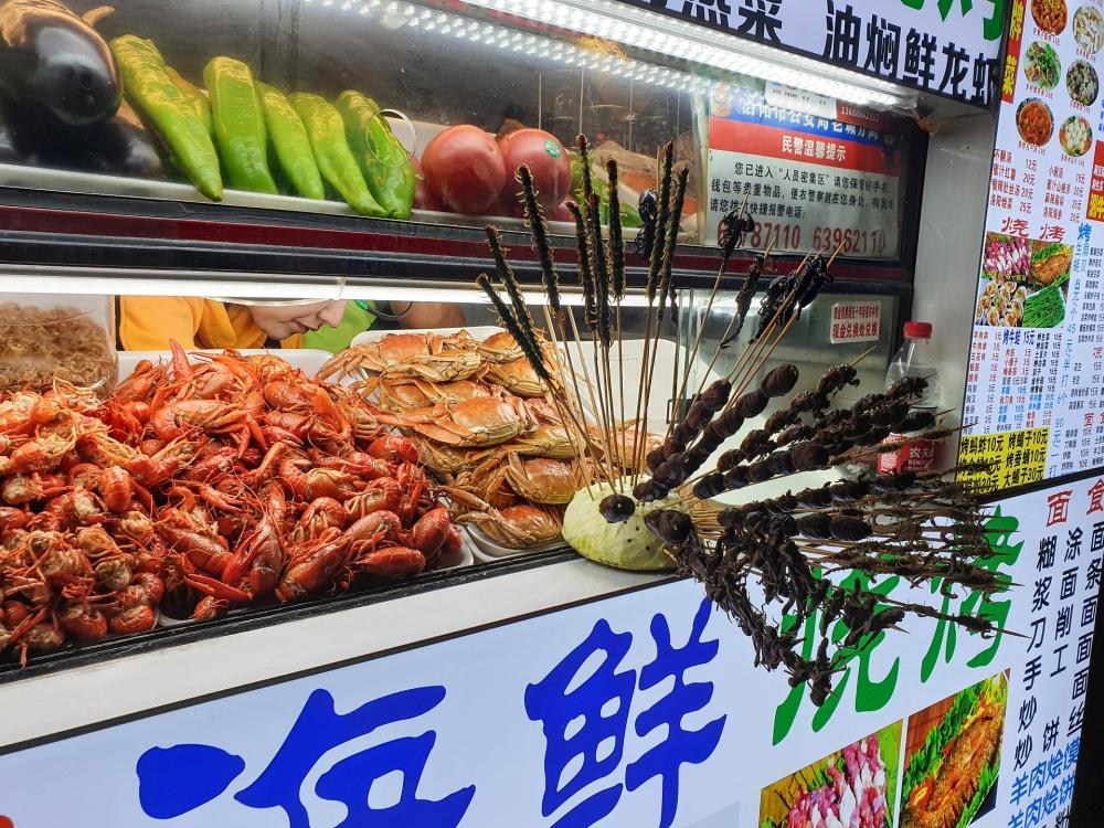 Nachtmarkt in Luoyangs Altstadt / Henan / China