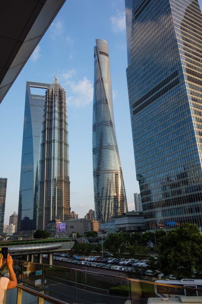 Skyscrapers von Pudong in Shanghai / China
