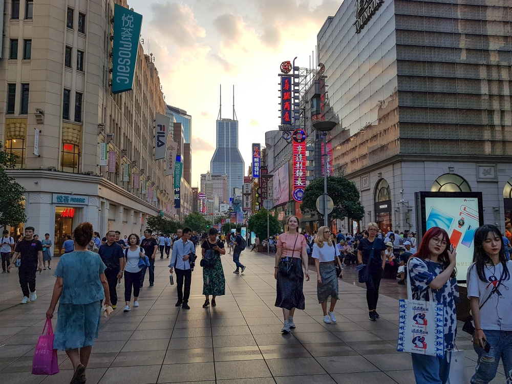 Nanjing East Road in Shanghai / China