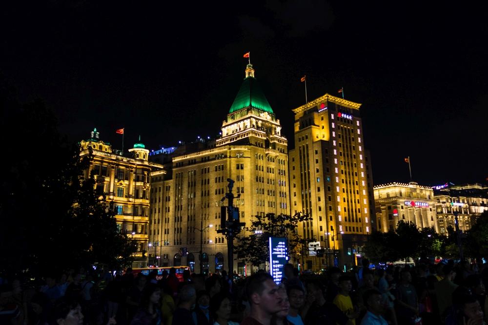 Der Bund in Shanghai bei Nacht / China