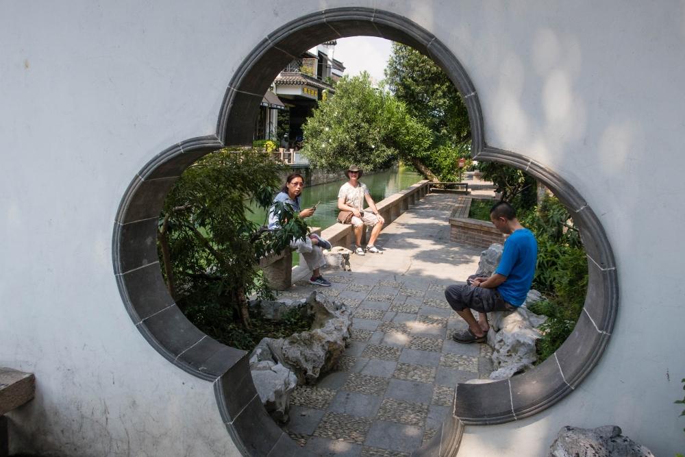 Pingjiang Lu in Suzhou / Jiangsu / China