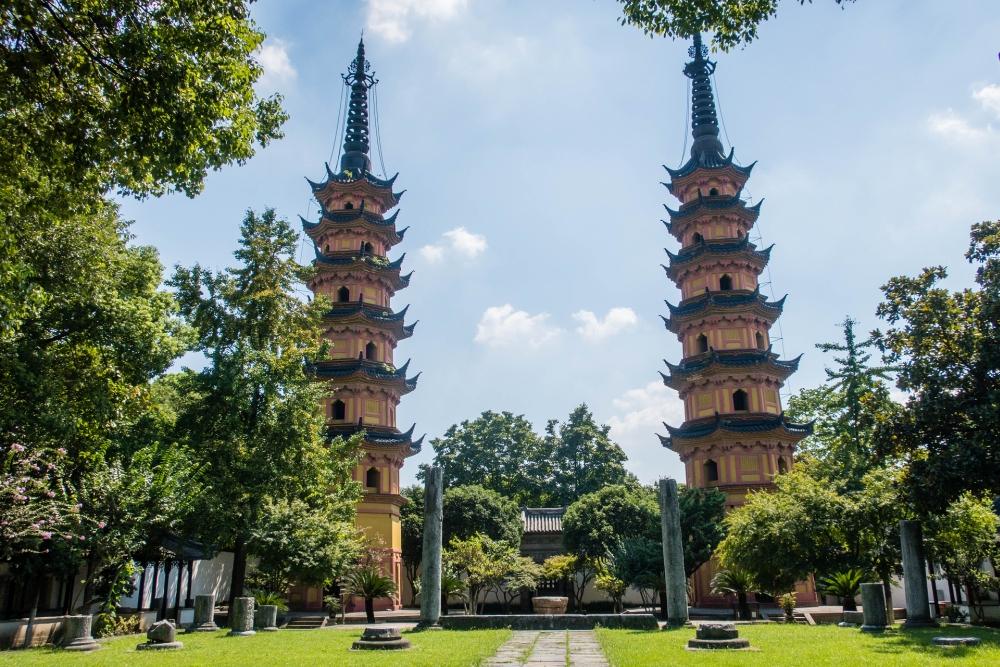 Shuang Ta in Suzhou / Jiangsu / China