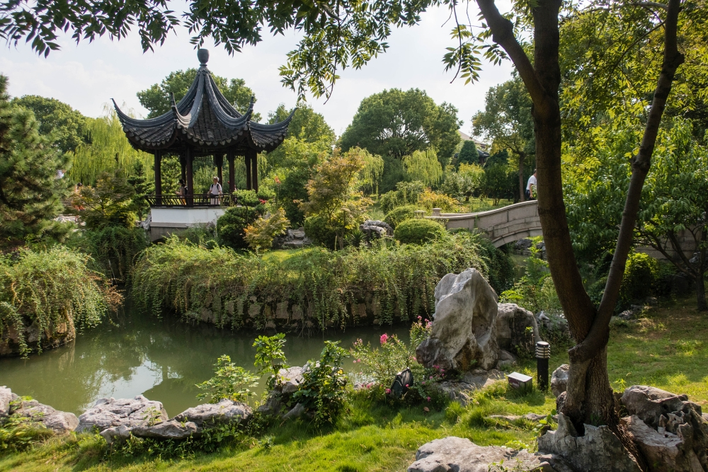Pan Men Landschaftspark in Suzhou / Jiangsu / China