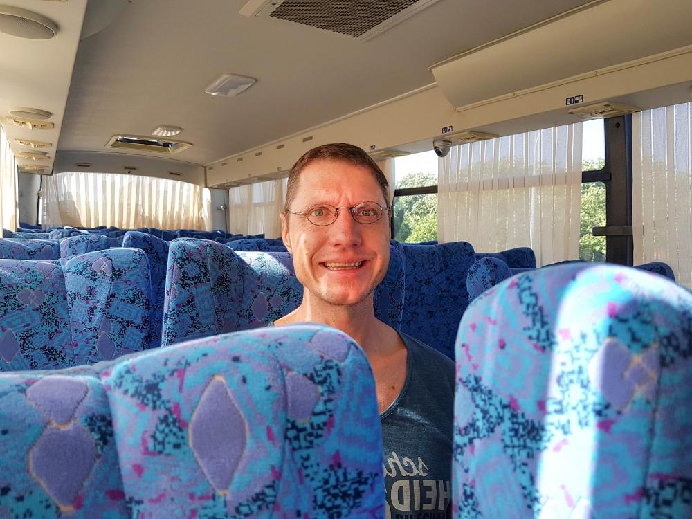 im Bus in Tonglis Altstadt / Jiangsu / China