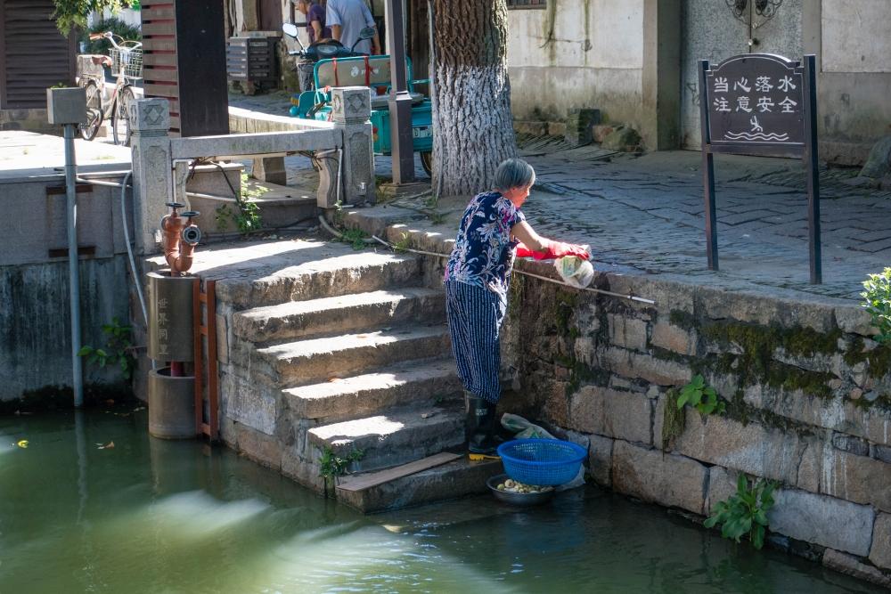 Kanal in der Altstadt von Tongli / Jiangsu / China