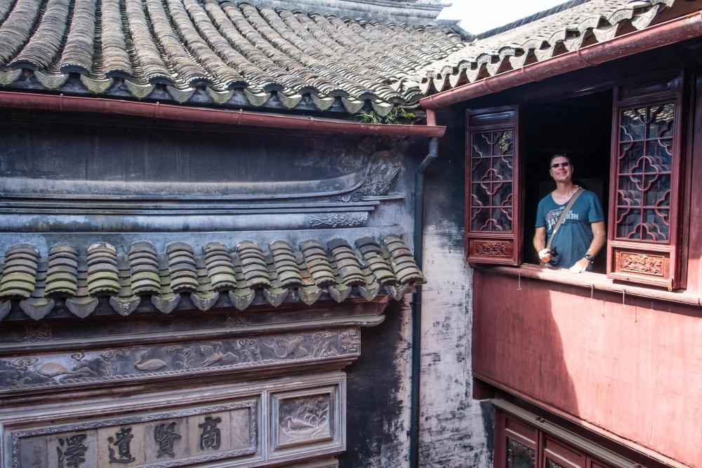 Chongben Halle in der Altstadt von Tongli / Jiangsu / China