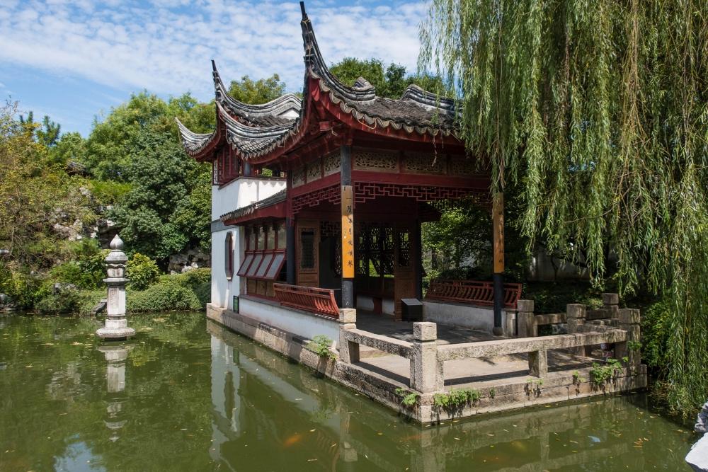 Garten der Perlenpagode in der Altstadt von Tongli / Jiangsu / China