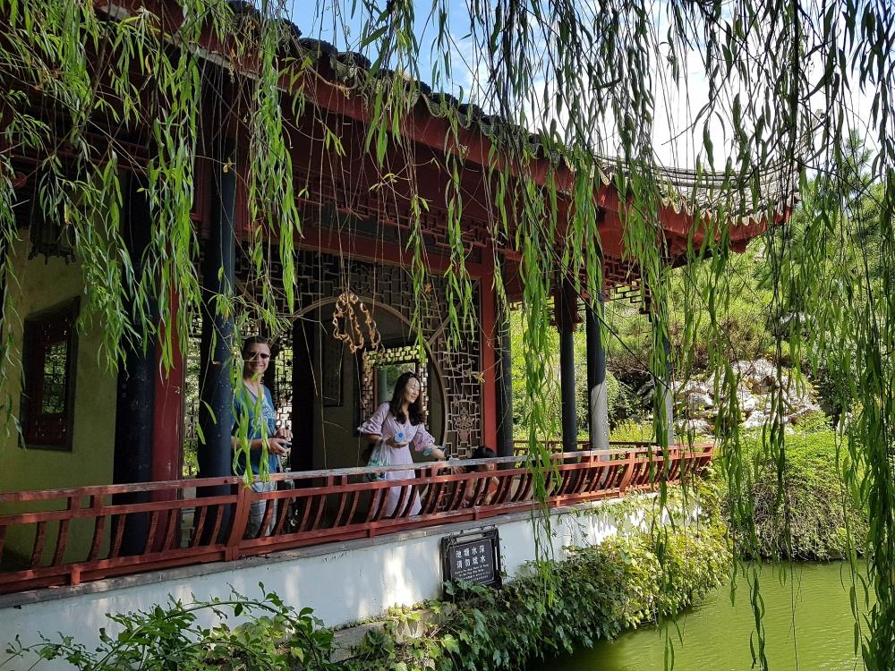 Garten in der Perlenpagode in der Altstadt von Tongli / Jiangsu / China