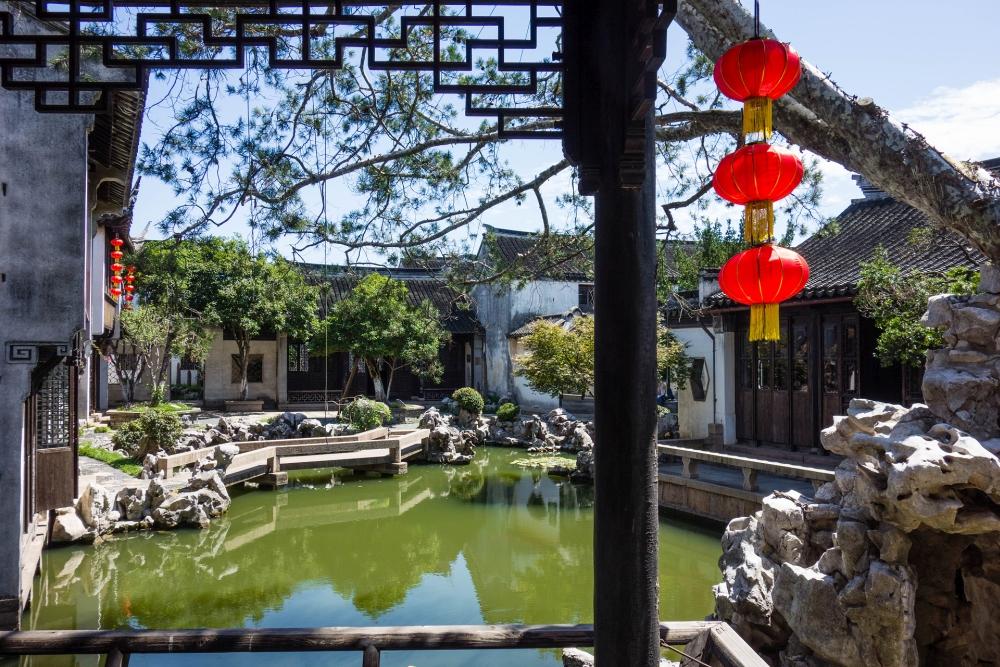 Garten der Gengle Tang in der Altstadt von Tongli / Jiangsu / China