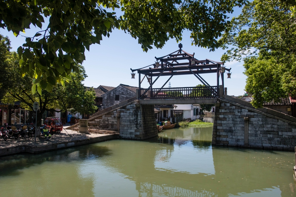 Kanäle der Altstadt von Tongli / Jiangsu / China