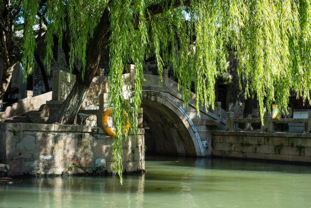Kanäle in der Altstadt von Tongli / Jiangsu / China