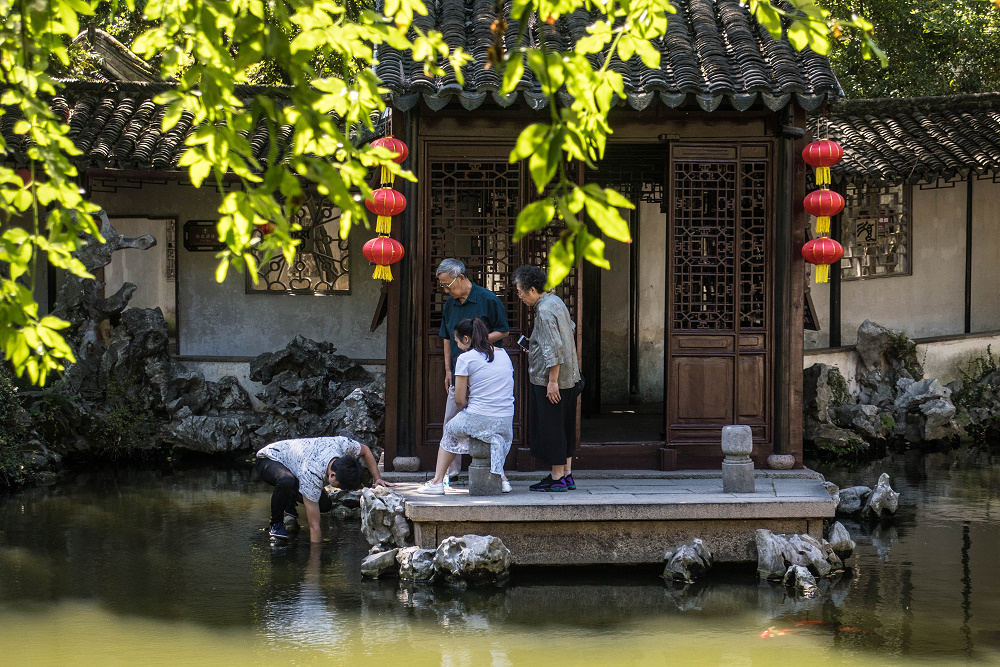 Tuisi Yuan in der Altstadt von Tongli / Jiangsu / China