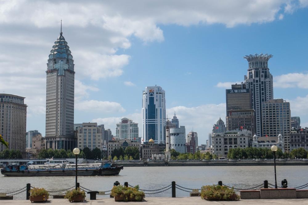 Blick zum Bund in Shanghai / China